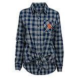 Juniors' Syracuse Orange Action Plaid Shirt