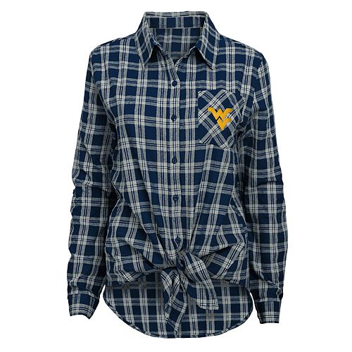 Juniors' West Virginia Mountaineers Action Plaid Shirt