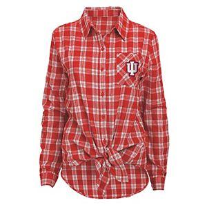 Juniors' Indiana Hoosiers Action Plaid Shirt