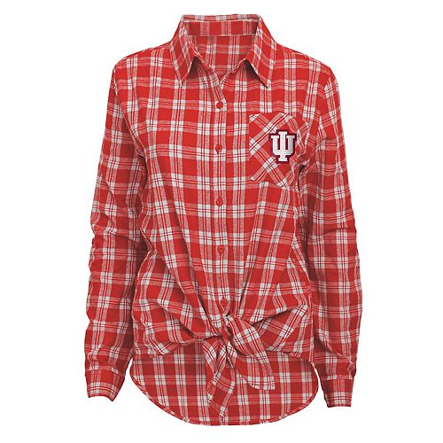 Women's Indiana Hoosiers Action Plaid Shirt