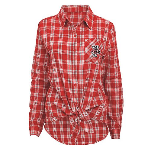 Women's Wisconsin Badgers Action Plaid Shirt