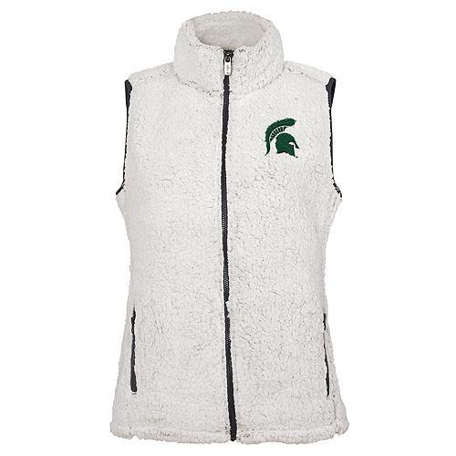 Women's Michigan State Spartans Sherpa Vest