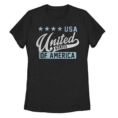 Juniors' USA United States Of America Graphic Tee