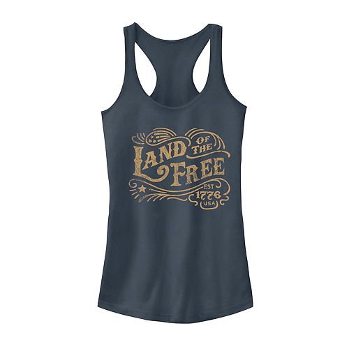 Juniors' Land Of The Free Graphic Tank