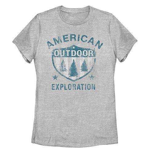 Juniors' American Outdoor Exploration Graphic Tee