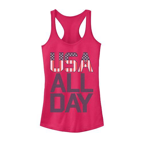 Juniors' USA All Day Tank