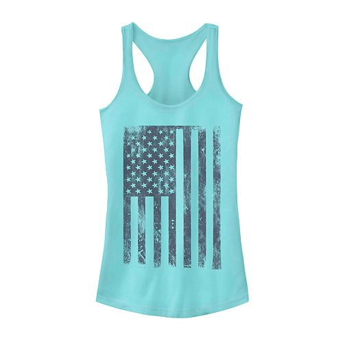 Juniors' Distressed Hanging Flag Tank