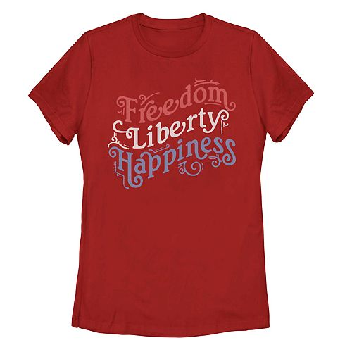 Juniors Freedom Liberty Happiness Tee