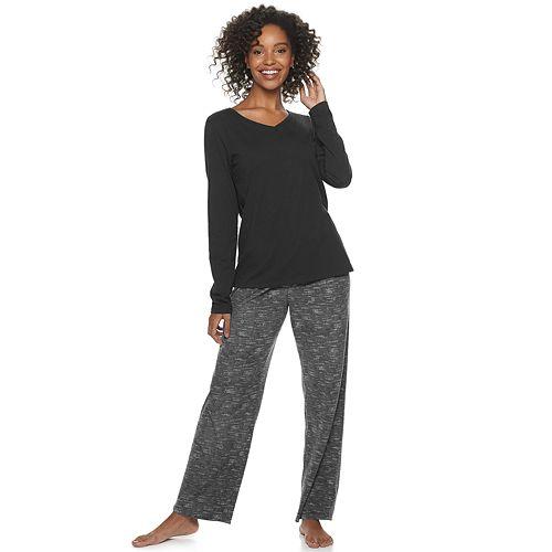 Women's SONOMA Goods for Life™ Knit & Microfleece Pajama Set
