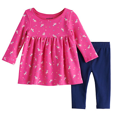 Baby Girl Jumping Beans® Unicorn Tunic & Leggings Set