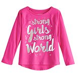 """Toddler Girl Jumping Beans® """"Strong Girls Strong World"""" Graphic Tee"""