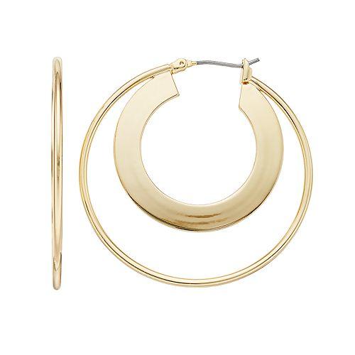 Nine West Double Hoop Earrings