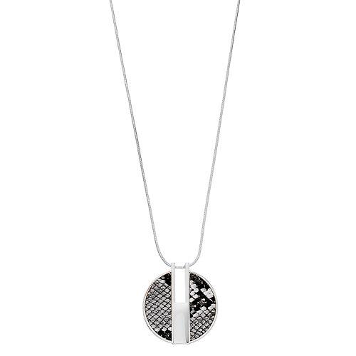 a00d8b054816c Nine West Snakeskin Print Pendant Necklace