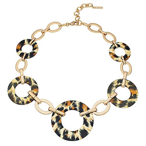 Nine West Cheetah Print Collar Necklace