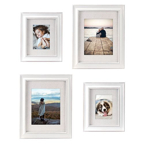 Malden Scratch Matted Wall Frame 4-Piece Set