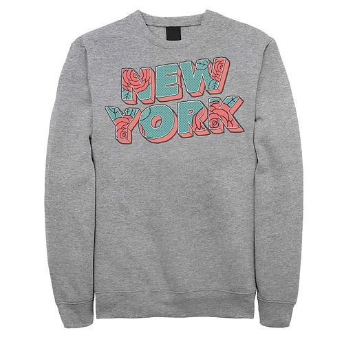 Juniors' New York Retro Rose Graphic Fleece Sweatshirt