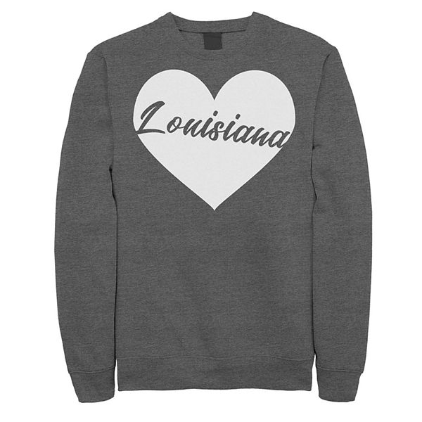 Juniors' Louisiana Heart Fleece Graphic Sweatshirt Djweu