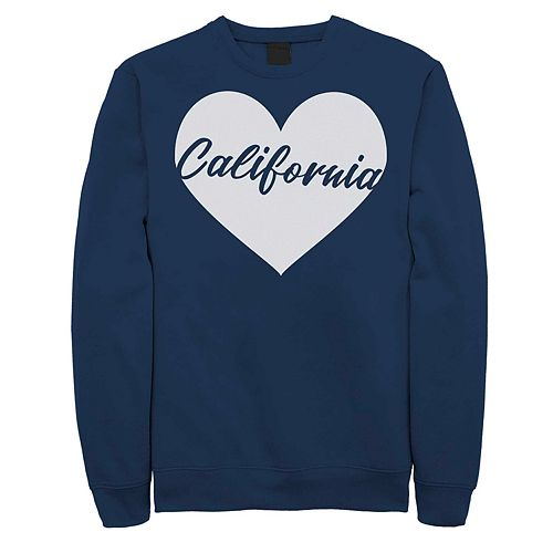 Juniors' California Heart Fleece Graphic Sweatshirt