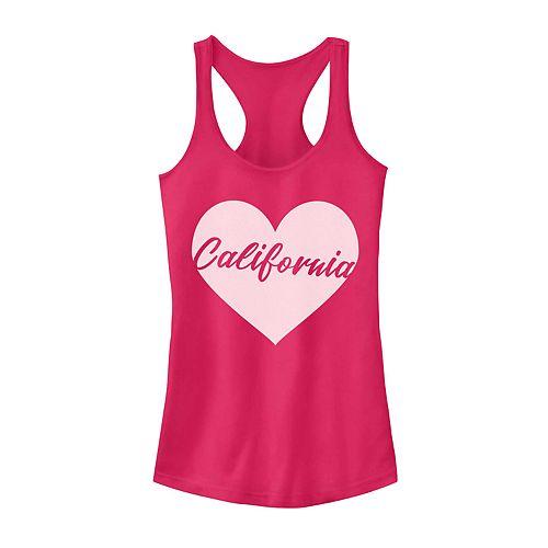 Juniors' California Heart Graphic Tank