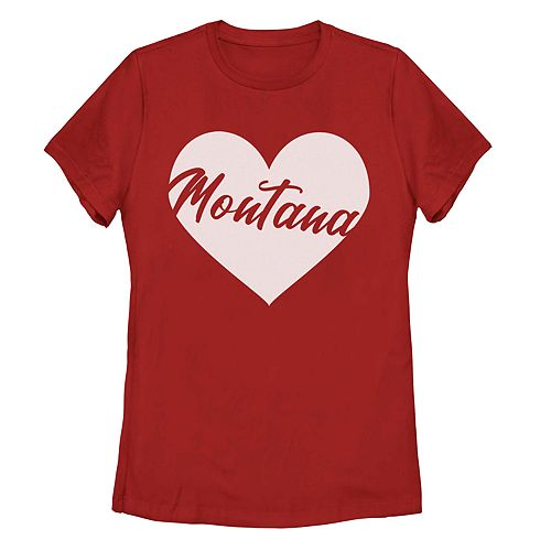 Juniors' Fifth Sun Montana Heart Graphic Tee