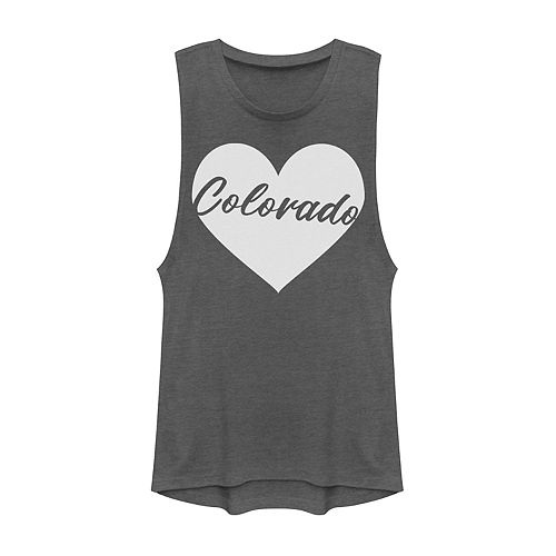 Juniors' Fifth Sun Colorado Heart Muscle Tank Top