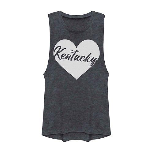 Juniors' Fifth Sun Kentucky Heart Muscle Tank Top