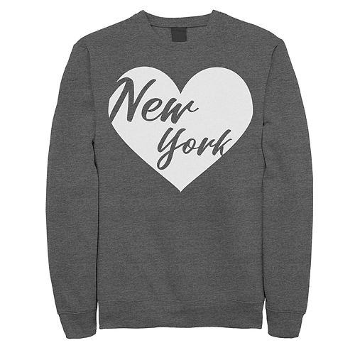 Juniors Fifth Sun New York Heart Fleece Top