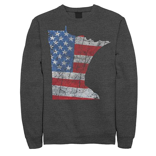 Juniors' Fifth Sun Minnesota American Flag Fleece Sweatshirt