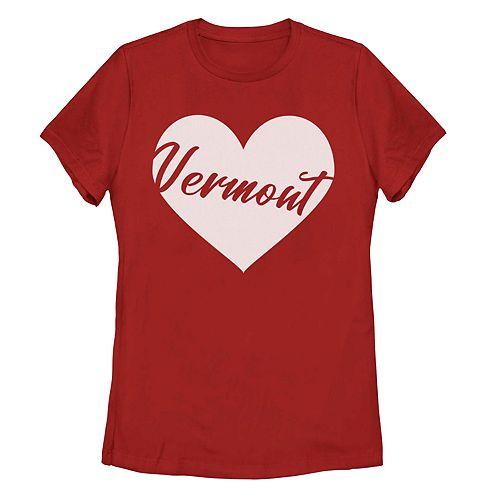 Juniors' Fifth Sun Vermont Heart Graphic Tee