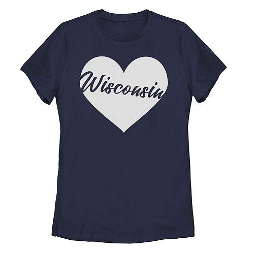 Juniors' Fifth Sun Wisconsin Heart Tee