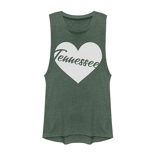 Juniors' Fifth Sun Tennessee Heart Muscle Tank