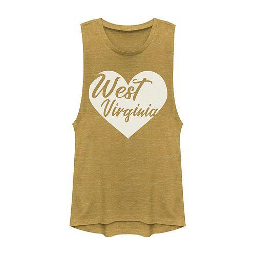 Juniors' Fifth Sun West Virginia Heart Muscle Tank