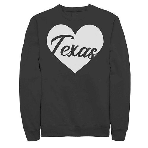 Juniors' Fifth Sun Texas Heart Fleece Top
