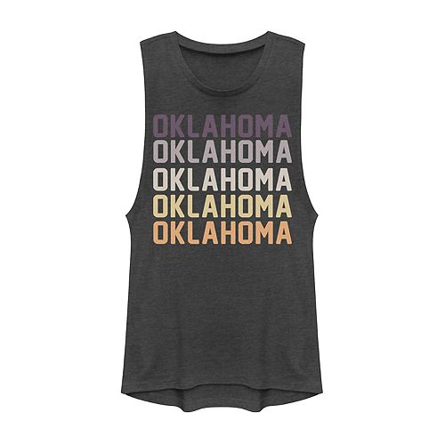 Juniors' Fifth Sun Oklahoma Colorful Stack Muscle Tank
