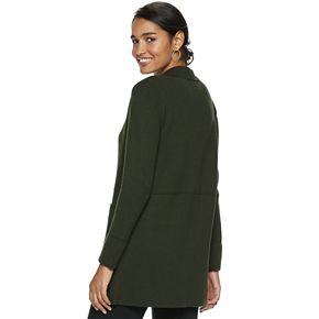 Women's ELLE? Notch Collar Long Coatigan