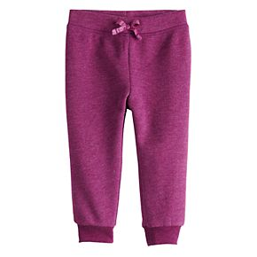 Baby Girl Jumping Beans® Fleece Jogger Pants