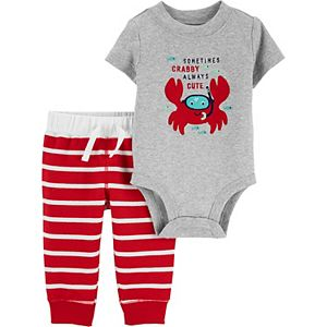Baby Carter's 2-Piece Crab Bodysuit and Pants Set