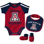 "Baby Boys Arizona Wildcats 3-Piece ""Tackle"" Bodysuit, Bib, & Booties Set"