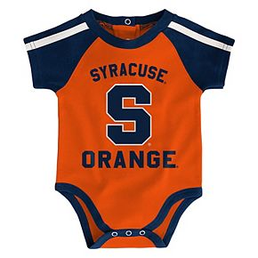 "Baby Boy Syracuse Orange 3-Piece ""Tackle"" Bodysuit, Bib, & Booties Set"