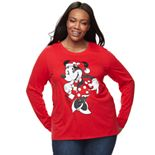 Disney's Minnie Mouse Plus Size Christmas Graphic Tee by Family Fun