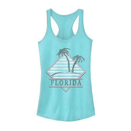 Juniors' Fifth Sun Florida Palm Tree Logo Tank