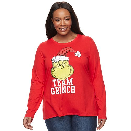 Plus Size Family Fun™ The Grinch Christmas Graphic Tee