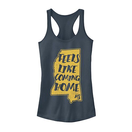 "Juniors' Fifth Sun Mississippi ""Feels Like Home"" Tank"