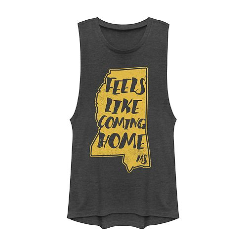 "Juniors' Fifth Sun Mississippi ""Feels Like Home"" Muscle Tank"