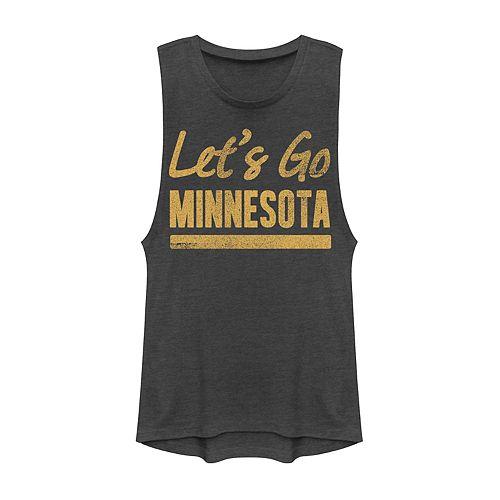 "Juniors' Fifth Sun ""Lets Go Minnesota"" Muscle Tank"
