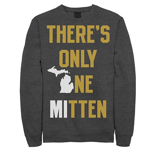"""Juniors' Fifth Sun """"There's Only One Mitten"""" Michigan Fleece Top"""