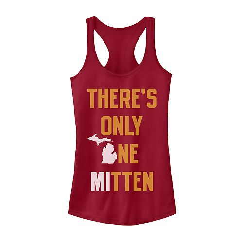 "Juniors' Fifth Sun ""There's Only One Mitten"" Michigan Tank"