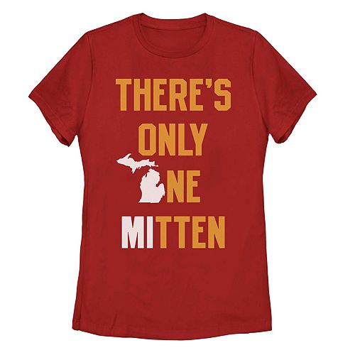 "Juniors' Fifth Sun ""There's Only One Mitten"" Michigan Tee"