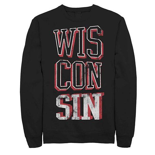 Juniors' Fifth Sun Wisconsin Distressed Fleece Sweatshirt