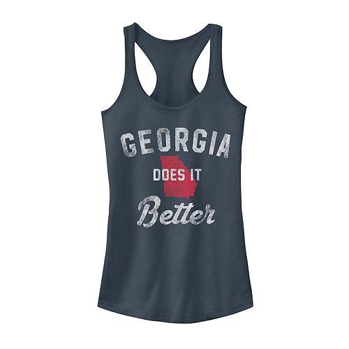 "Juniors Fifth Sun ""Georgia Does It Better"" Tank Top"